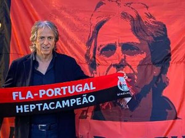 Jorge Jesus visita embaixada do Fla em Portugal antes de voltar ao Brasil